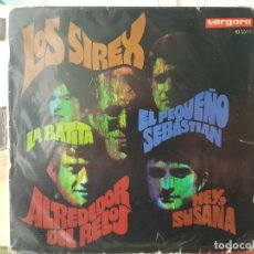 Discos de vinilo: ** LOS SIREX - ALREDEDOR DEL RELOJ / LA RATITA + 2 - EP 1968 - LEER DESCRIPCIÓN. Lote 195087593