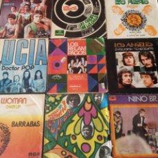 Discos de vinilo: LOTE 75 SG'S ARTISTAS ESPAÑOLES. LOS BRAVOS, ALBAS, ANGELES, MUSTANG, ETC. Lote 195088693