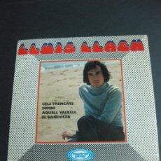 Discos de vinilo: LLUIS LLACH. EP. CELS TRENCATS + 3. 1970. Lote 195094436
