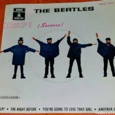 Discos de vinilo: SIGLE VINILO DE LOS THE BEATLES. CARA A: HELP! ¡SOCORRO!. Lote 195096323