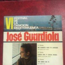 Discos de vinilo: JOSÉ GUARDIOLA SINGLE EP DE 1964. Lote 195096848