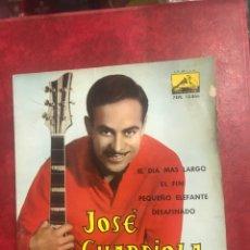 Discos de vinilo: JOSÉ GUARDIOLA SINGLE EP DE 1962. Lote 195097083