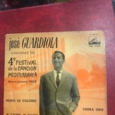 Discos de vinilo: JOSÉ GUARDIOLA SINGLE EP DE 1962. Lote 195097388