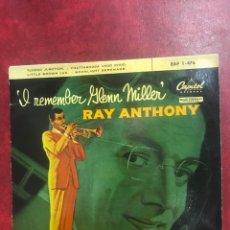 Discos de vinilo: 1 REMEMBER DE GLENN MILLER Y RAY ANTONY SINGLE EP DE 1959. Lote 195098770