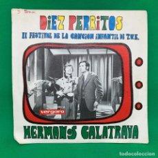 Discos de vinilo: - HERMANOS CALATRAVA- LA BURRA DE YON TOÑIN II FESTIVAL DE LA CANCION INFANTIL DE T.V.E -SINGLE VG+. Lote 195098788