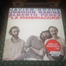 Discos de vinilo: JAVIER KRAHE,JOAQUIN SABINA,ALBERTO PEREZ.LA MANDRAGORA.CBS 32139.REEDICIÓN 1983.IMPECABLE.. Lote 195099456