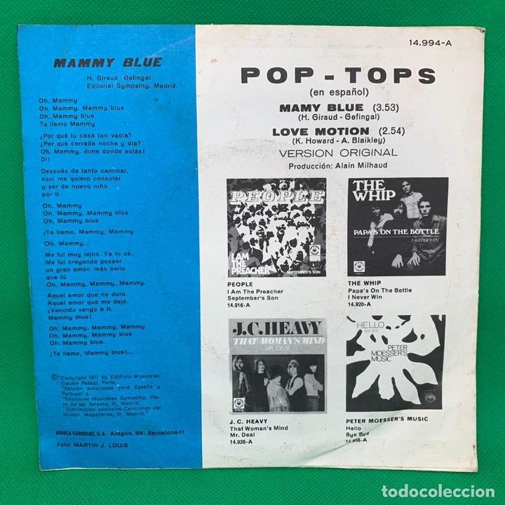 Discos de vinilo: MAY BLUE - LOVE MOTION - POP TOPS. VERSIÓN ESPAÑOLA. SINGLE VG+ - Foto 2 - 195099606