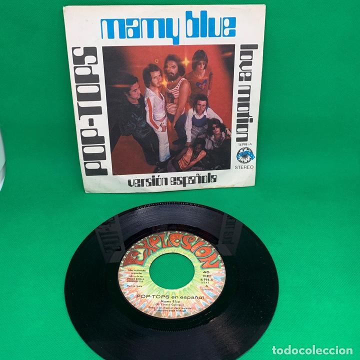Discos de vinilo: MAY BLUE - LOVE MOTION - POP TOPS. VERSIÓN ESPAÑOLA. SINGLE VG+ - Foto 3 - 195099606