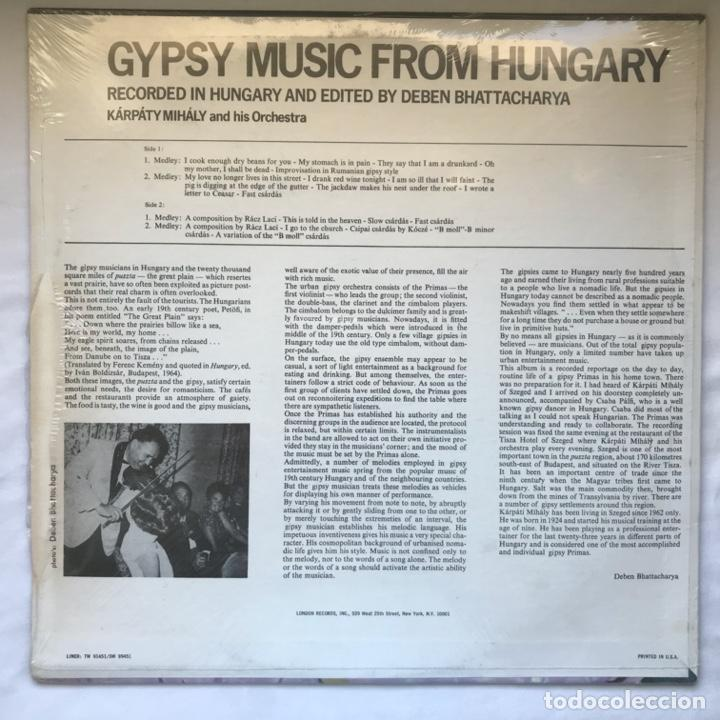 Discos de vinilo: Karpaty Mihaly And His Orchestra – Gypsy Music From Hungary - Foto 2 - 195102680