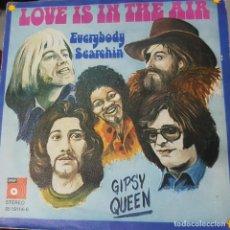 Discos de vinilo: GIPSY QUEEN - LOVE IS IN THE AIR - RARO SINGLE ALEMÁN 1972 - BASF - BUEN ESTADO. Lote 195104135