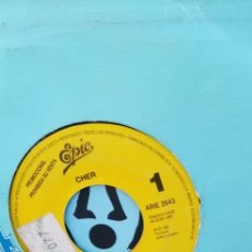 Discos de vinilo: PROMO EPIC CHER THE SHOOP SHOOP SONG. Lote 195105023