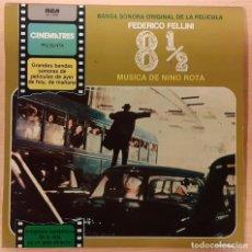 Discos de vinilo: OCHO Y MEDIO (OTTO E MEZZO) NINO ROTA DESCATALOGADO. Lote 195105121