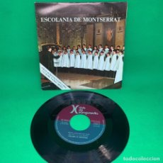 Discos de vinilo: ESCOLANIA DE MONTSERRAT - GRAVACIO EXCLUSIVA PEL CLUB VANGUARDIA -SINGLE VG+. Lote 195105491