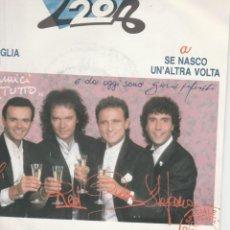 Discos de vinilo: 45 GIRI I POOH SE NASCO UN 'ALTRA VOLTA /TANTA VOGLIA DI LEI CGD 1985. Lote 195110748