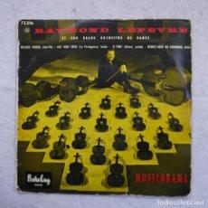 Discos de vinilo: RAYMOND LEFEVRE ET SON GRAND ORCHESTRE DE DANSE - MUSICORAMA - EP DE 4 CANCIONES. Lote 195110838