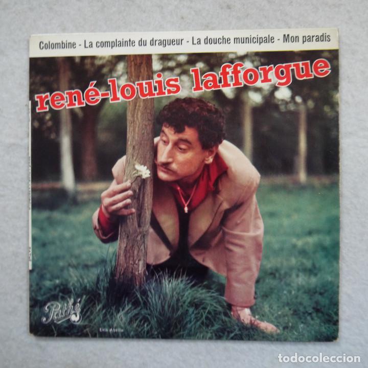 RENÉ-LOUIS LAFFORGUE - LA DOUCHE MUNICIPALE - COLOMBINA Y DOS CANCIONES MAS - EP 1959 (Música - Discos de Vinilo - EPs - Canción Francesa e Italiana)