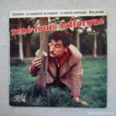 Discos de vinilo: RENÉ-LOUIS LAFFORGUE - LA DOUCHE MUNICIPALE - COLOMBINA Y DOS CANCIONES MAS - EP 1959. Lote 195111402