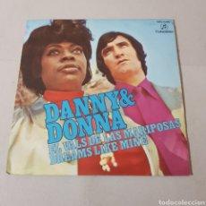 Discos de vinilo: DANNY & DONNA - EL VALS DE LAS MARIPOSAS - DREAMS LIKE MINE. Lote 195112517