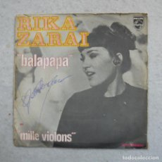Discos de vinilo: RIKA ZARAI - BALAPAPA / MILLE VIOLONS - SINGLE 1970 . Lote 195112843