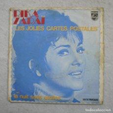 Discos de vinilo: RIKA ZARAI - LES JOLIES CARTES POSTALES / LA NUIT SANS ÉTOILES - SINGLE 1971 . Lote 195113040