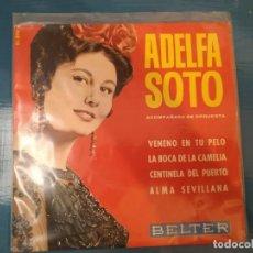 Discos de vinilo: ADELFA SOTO VENENO EN TU PELO EP VINILO DEL AÑO 1964 BELTER ORQUESTA ADOLFO VENTAS 4 TEMAS. Lote 195113670