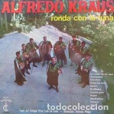 Discos de vinilo: ALFREDO KRAUS LP RONDA CON LA TUNA COLEGIO FRAY LUIS DE LEON D.C.ANTONIO MOYA 1965. Lote 195114318
