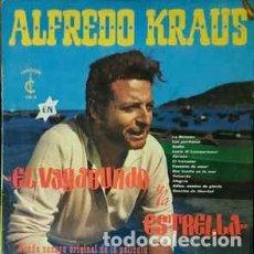 Discos de vinilo: ALFREDO KRAUS: EL VAGABUNDO Y LA ESTRELLA (B.S.O. DE LA PELÍCULA) LP CARILLON 1960.. Lote 195114481