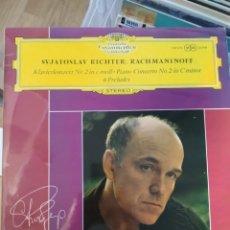 Discos de vinilo: SVJATOSLAV RICHTER: RACHMANINOFF – KLAVIERKONZERT NR. 2 IN C-MOLL • PIANO-CONCERTO NO. 2 IN C MINOR. Lote 195114676