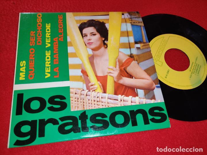LOS GRATSONS MAS/QUIERO SER DICHOSO/VERDE VERDE/LA BAMBA ALEGRE EP 1964 IBEROFON EXCELENTE ESTADO (Música - Discos de Vinilo - EPs - Grupos Españoles 50 y 60)