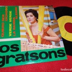Discos de vinilo: LOS GRATSONS MAS/QUIERO SER DICHOSO/VERDE VERDE/LA BAMBA ALEGRE EP 1964 IBEROFON EXCELENTE ESTADO. Lote 195116018