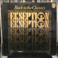 Discos de vinilo: EKSEPTION – BACK TO THE CLASSICS 1976. Lote 195116131