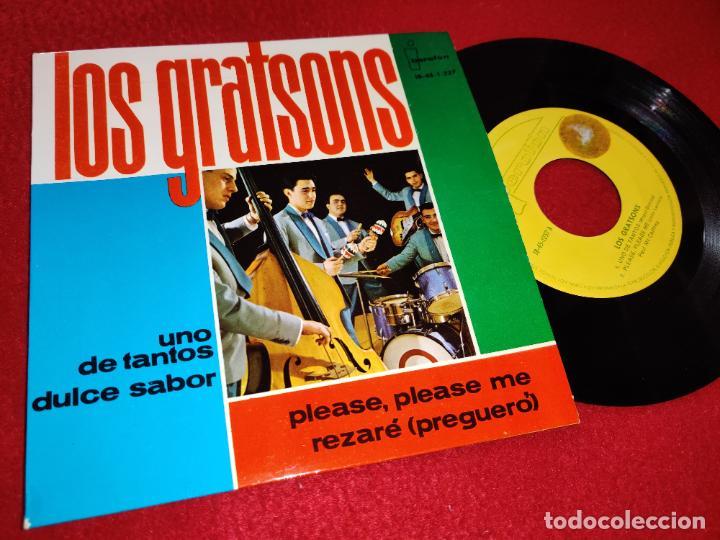 LOS GRATSONS UNO DE TANTOS/DULCE SABOR/PLEASE PLEASE ME/REZARE EP 1964 IBEROFON (Música - Discos de Vinilo - EPs - Grupos Españoles 50 y 60)