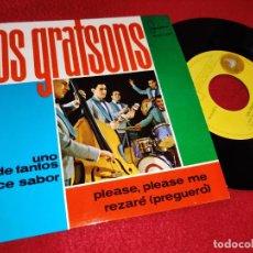 Discos de vinilo: LOS GRATSONS UNO DE TANTOS/DULCE SABOR/PLEASE PLEASE ME/REZARE EP 1964 IBEROFON. Lote 195116200