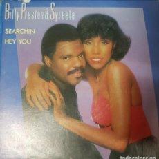 Discos de vinilo: BILLY PRESTON & SYREETA - BEATLES - SEARCHIN / HEY YOU - SINGLE PROMO EDICIÓN ESPAÑOLA 1981. Lote 195116713