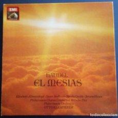 Discos de vinilo: SOLO DOS LP'S - PARTITURA - HANDEL - EL MESIAS - OTTO KLEMPERER - PARTITURA - SOLO DOS LP'S . Lote 195117170