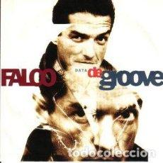 Discos de vinilo: FALCO - DATA DE GROOVE - MAXI-SINGLE TELDEC GERMANY 1990. Lote 195118916