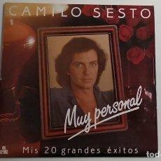 Discos de vinilo: CAMILO SESTO -MUY PERSONAL - MIS 20 GRANDES ÉXITOS - DOBLE LP. Lote 195120216
