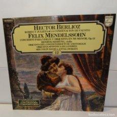 Discos de vinilo: HECTOR BERLIOZ ROMEO Y JULIETA - SIR COLIN DAVIS -LP 1981 (12). Lote 195127097