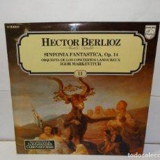Discos de vinilo: HECTOR BERLIOZ SINFONIA FANTASTICA, OP.14- LP 1981 (14). Lote 195127750