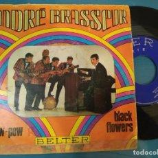 Discos de vinilo: ANDRE BRASSEUR - POW POW + BLACK FLOWERS / BELTER - AÑO 1968. Lote 195128120
