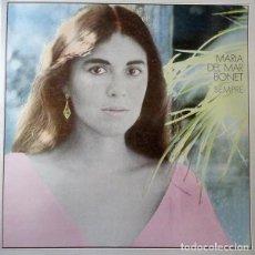 Discos de vinilo: MARIA DEL MAR BONET - SEMPRE - LP 1981 - CANÇÓ CATALANA CON LAS LETRAS. Lote 195129056