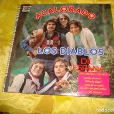 Discos de vinilo: LOS DIABLOS. ACALORADO. DISCOS LATIN INTERNATIONAL, 1975. EDC. U.S.A. IMPECABLE (#). Lote 195129868