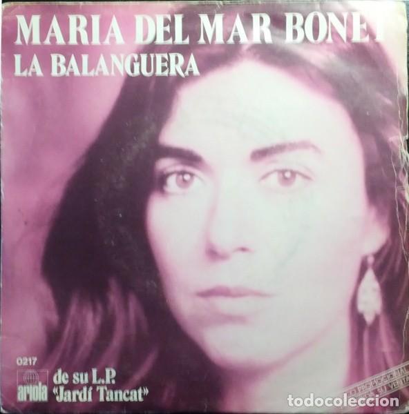 MARIA DEL MAR BONET – ESTROFA AL VENT / LA BALANGUERA - SINGLE PROMO SPAIN 1981 (Música - Discos - Singles Vinilo - Cantautores Españoles)