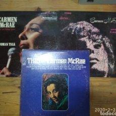 Discos de vinilo: CARMEN MCRAE 3 LP. Lote 195130895