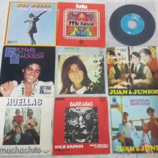 Discos de vinilo: LOTE 9 DISCOS SINGLE EN BUEN ESTADO BEATLES, DONNA HIGHTOWER, MICHAEL JACKSON Y MÁS. Lote 195131193