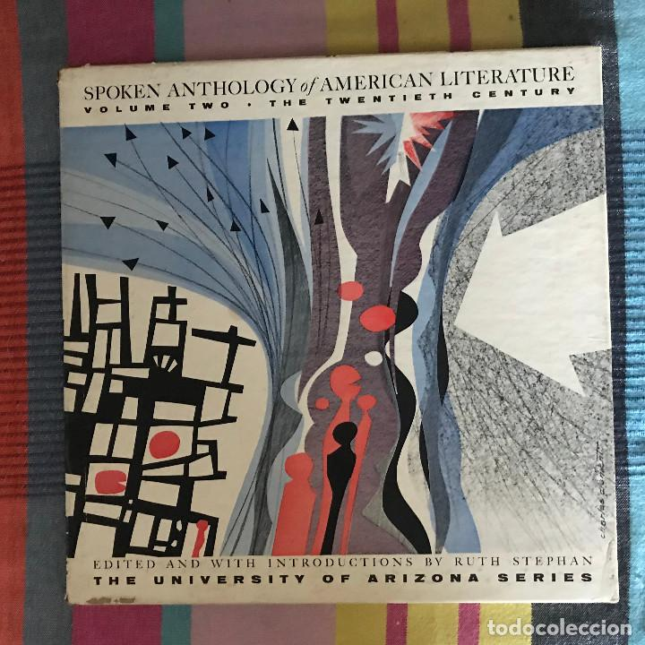 SPOKEN ANTHOLOGY OF AMERICAN LITERATURE VOLUME 2 - 20TH CENTURY - CAJA 4 LPS UNIVERSITY OF ARIZONA (Música - Discos - LP Vinilo - Otros estilos)