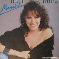Discos de vinilo: MASSIEL - SOLA EN LIBERTAD - LP HISPAVOX 1984. Lote 195132935