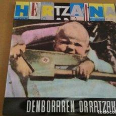 Discos de vinilo: HERTZAINAK DENBORAREN ORRTZAK LP INSERTO. Lote 195133078