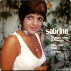 Discos de vinilo: SABRINA -DIME QUE HACES EL DOMINGO - SG PROMO SPAIN 1971 - BELTER 98.016. Lote 195133333