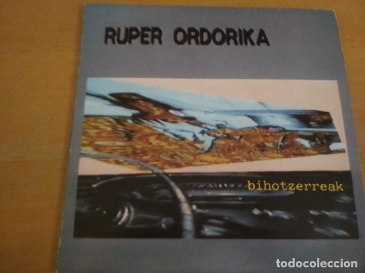 RUPER ORDORIKA BIHOTZERREAK LP 1985 INSERTO (Música - Discos de Vinilo - Maxi Singles - Grupos Españoles de los 70 y 80)